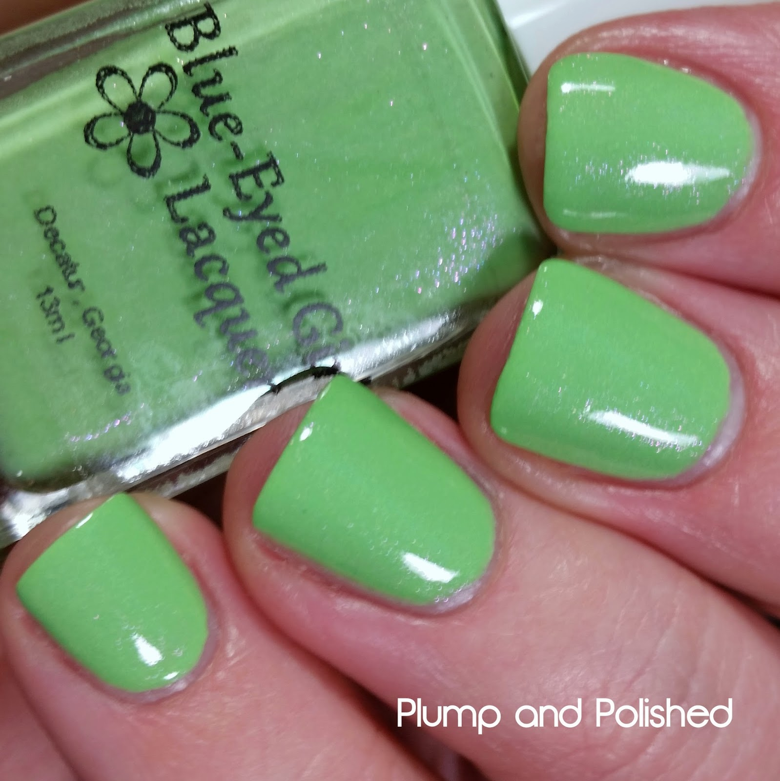 Blue-Eyed Girl Lacquer - Queen Lime Rose Zinnia