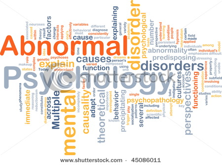 what is abnormal psychology what is normal Psychology and psychopathology the popular scientific literature of today often asserts dogmatically the belief that the investigation of the normal precedes that of the abnormal this belief is erroneous and is only given credence to by people who had not thought much on the subject, and especially by those who belong to the so-called new.