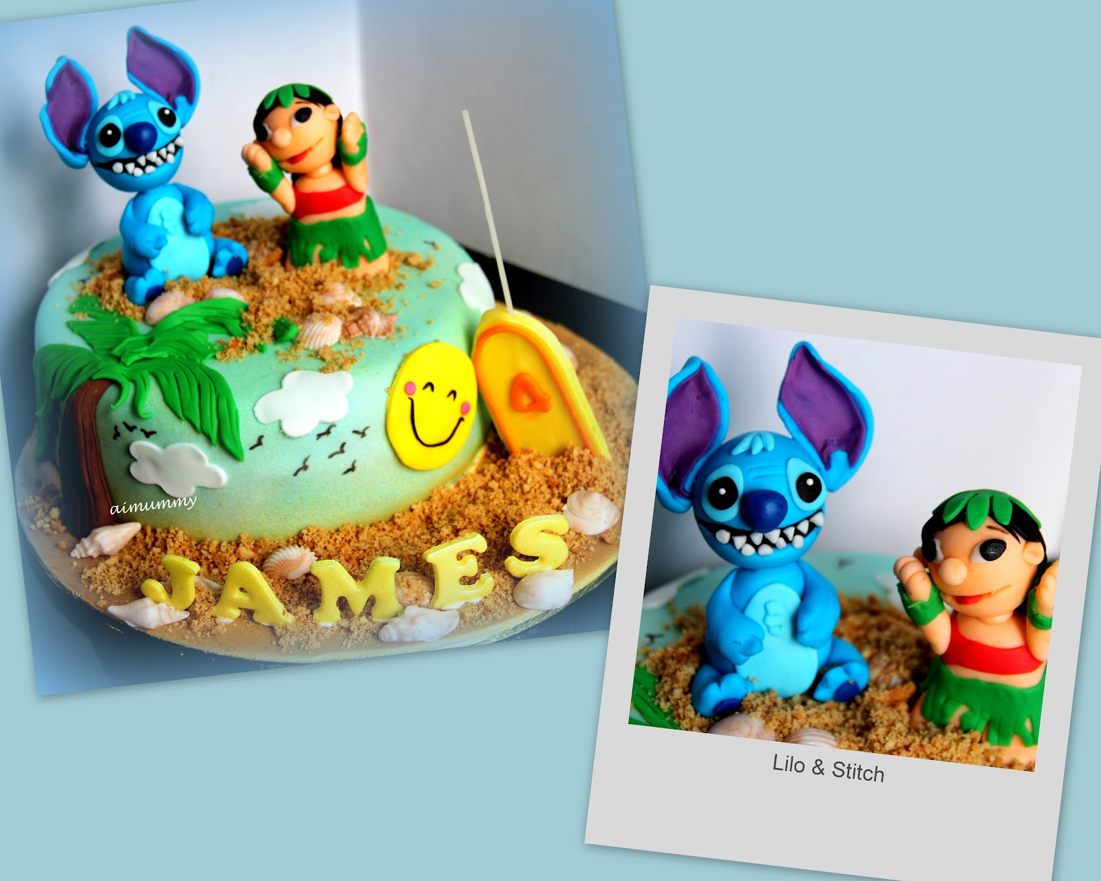 Aimummy Lilo Stitch Cake For James