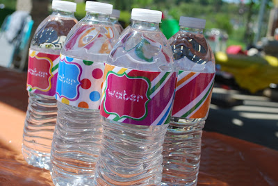 candy party decorations, candy party water bottle labels, water bottle labels,