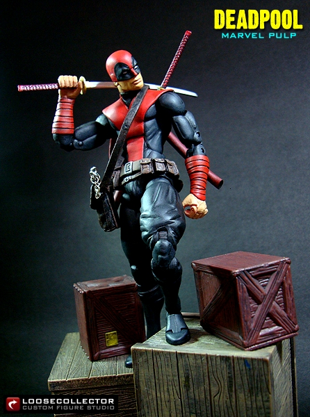 loosecollector custom action figures official website  deadpool noir