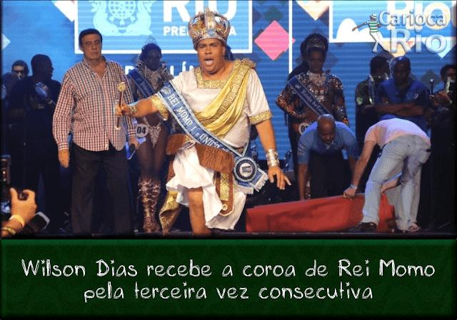 Wilson Dias -  o Rei Momo do Carnaval do Rio de Janeiro