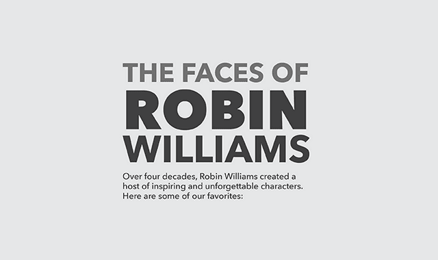 The Faces of Robin Williams