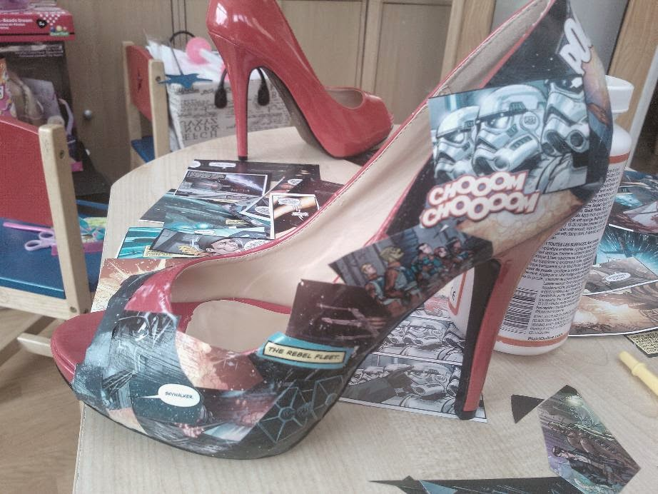 mod podge star wars heels