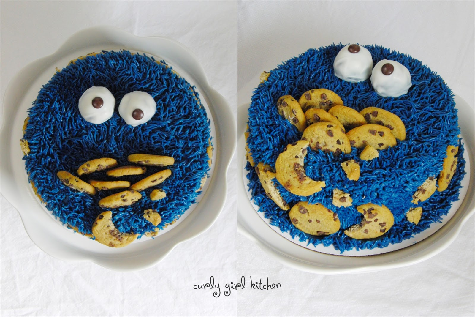 Curly Girl Kitchen a Cookie Monster Cake and a Tutorial for Sesame