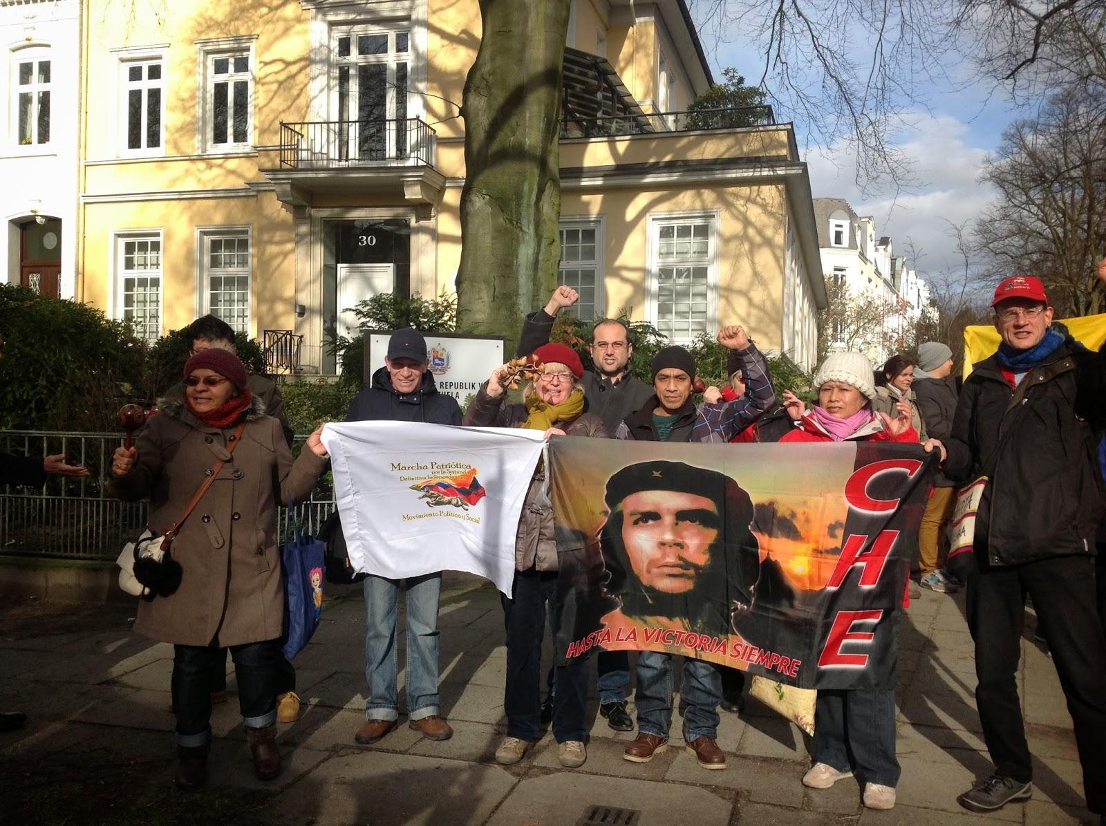 Solidarität mit Venezuela in Hamburg
