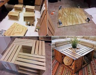 Mesa con Cajas Recicladas, Muebles Ecoresponsable