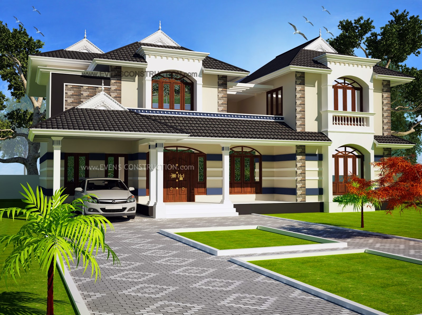 Evens Construction Pvt Ltd 3222 Square Feet 4 Bedroom House