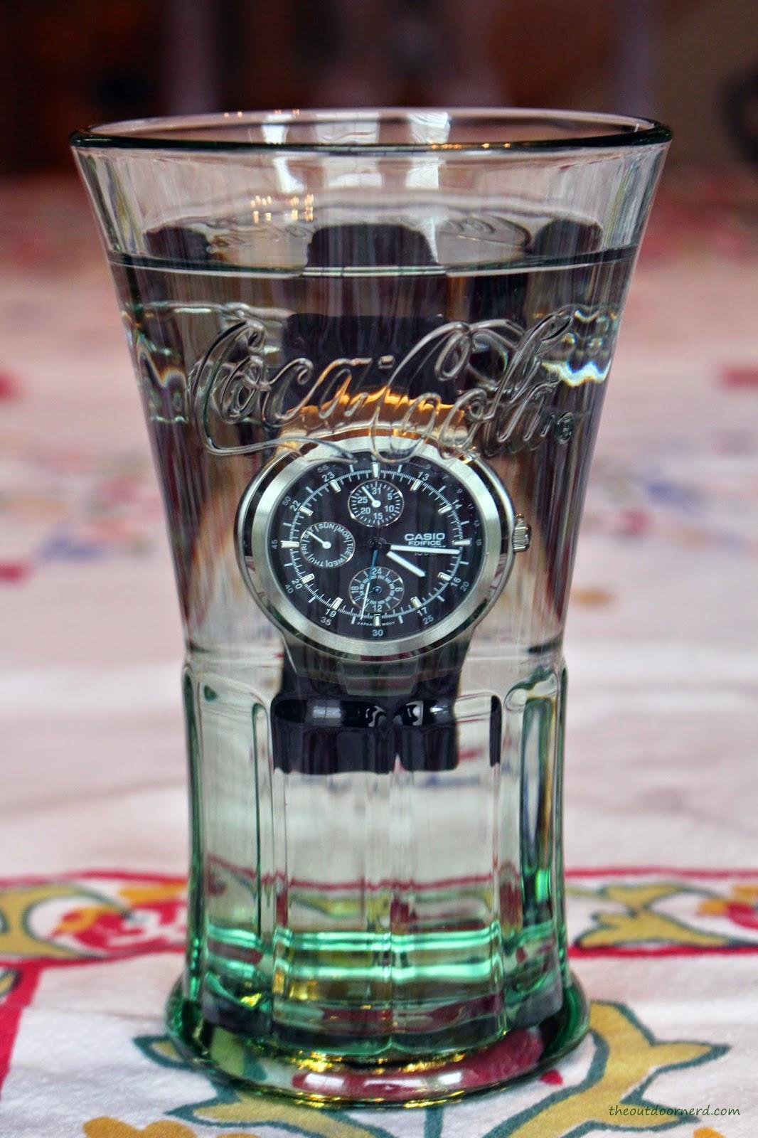 Casio Men's EF305-1AV Edifice In Glass Of Water