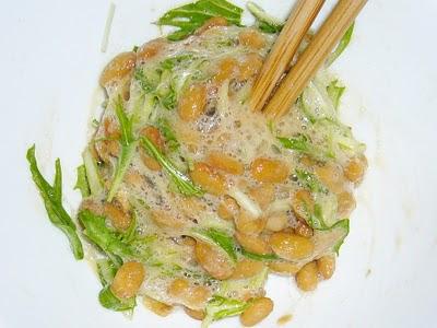 納豆に水菜
