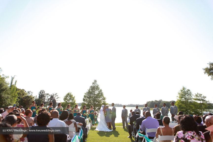 Outdoor ceremony at Lake Mary Events Center KWuWeddings Joie De Vie Orlando