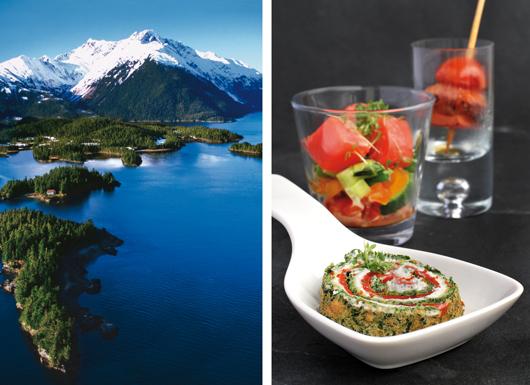 Alaska See und Lachs Fingerfood