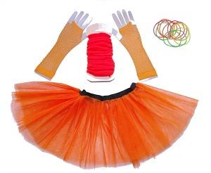 80s Orange Tutu Set