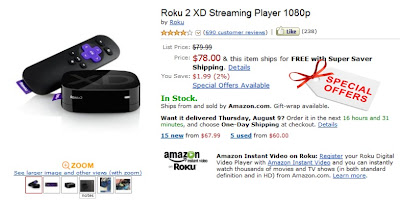 Roku 2 XD Coupon