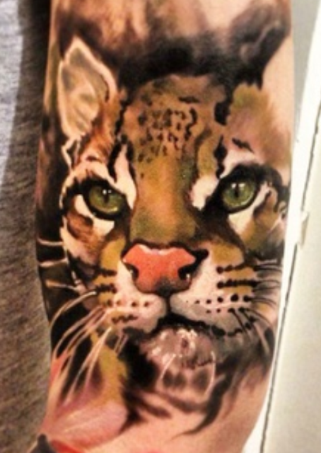 Cute Tiger Baby Tattoo