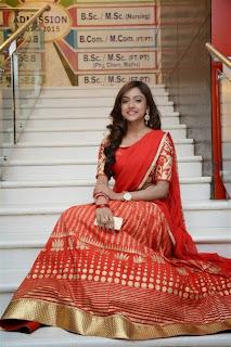 Actress Vithika Pictures in Half Saree at Mahabalipuram Movie Audio Launch  0021