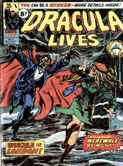 Dracula Lives #3, London, Marvel UK