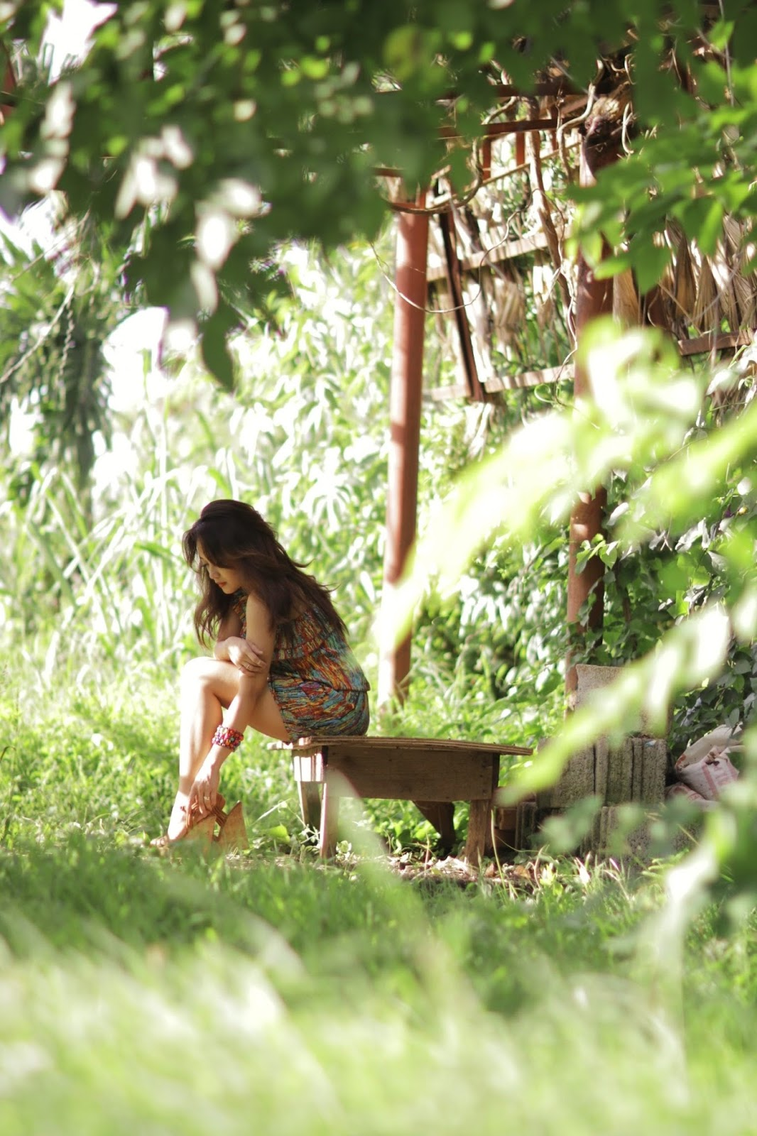 MELF, Manila East Lakeview Farms, forever 21 wedges, romper, summer trends