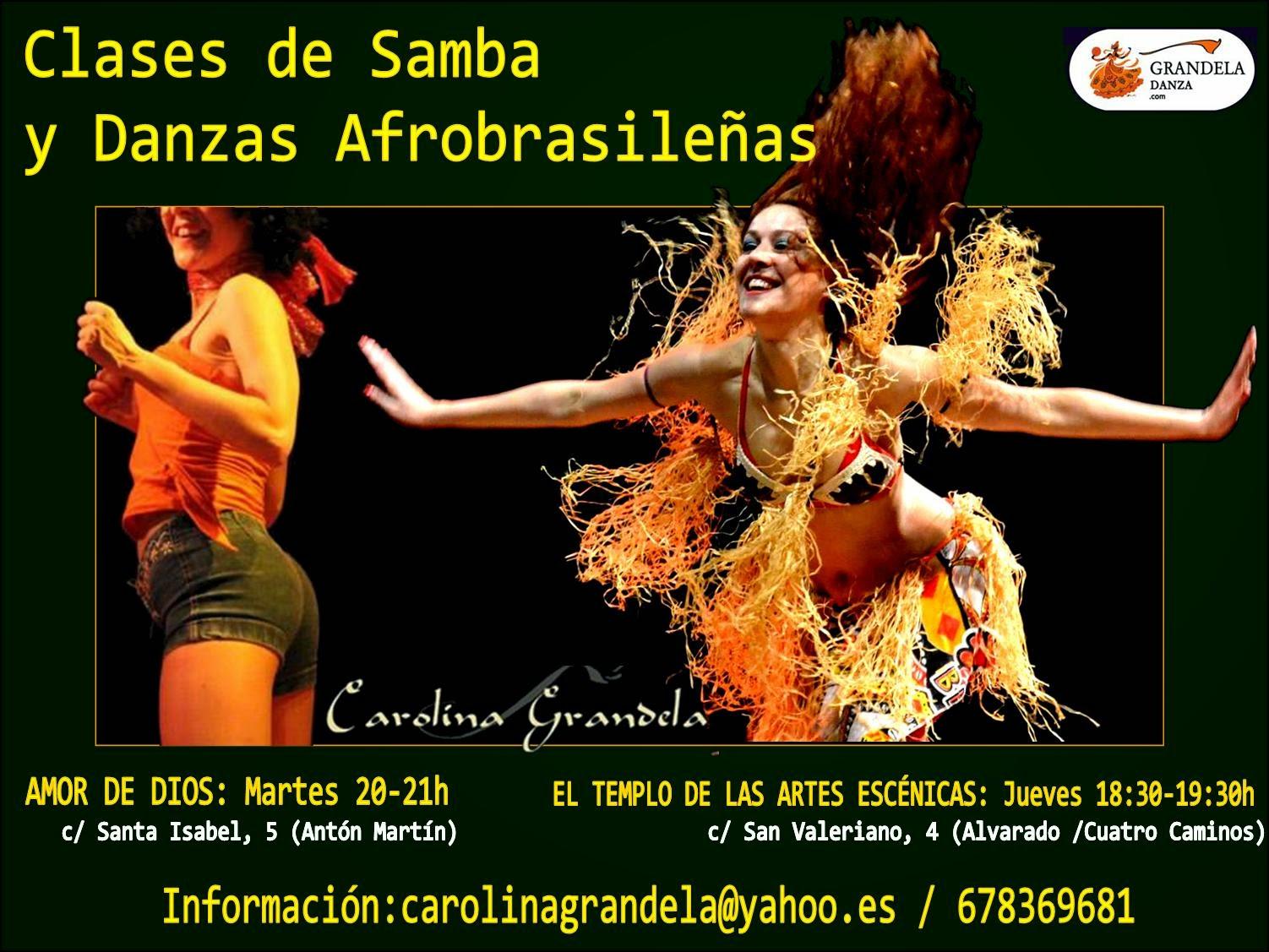Clases de Samba y Danzas Afrobrasileñas