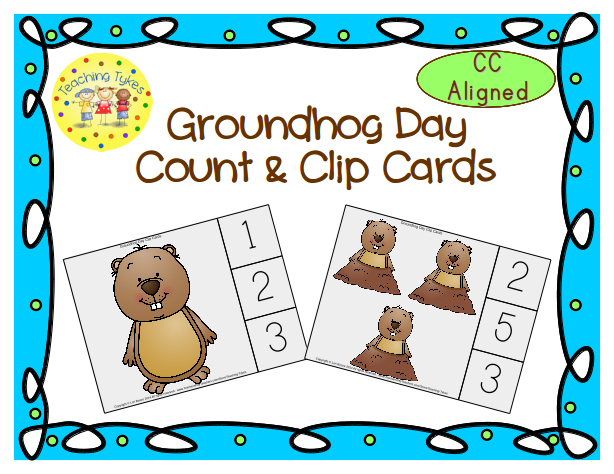 https://www.teacherspayteachers.com/Product/Groundhog-Day-Clip-Cards-Common-Core-Aligned-1449428