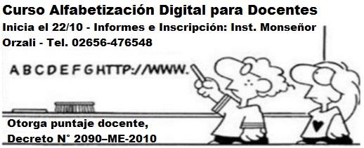 Curso Taller Alfabetización Digital para Docentes
