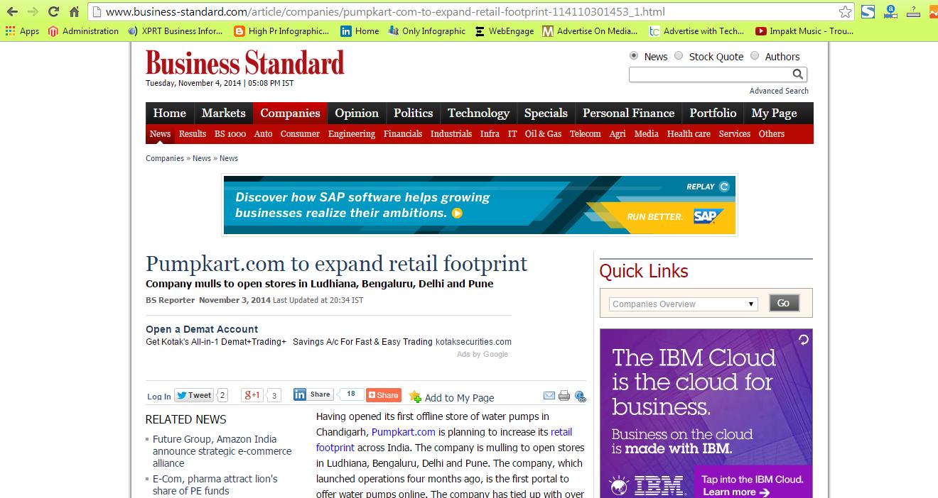 Pumpkart.com to expand retail footprint | Pumpkart News