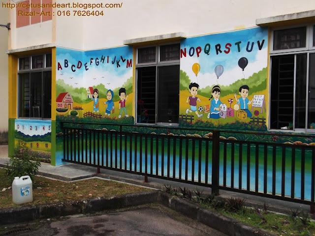 Mural art cetusan idea design mural tabika kemas taman for Mural untuk taska