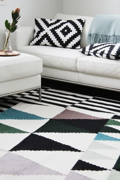 geometric textile patterns Scandinavian design
