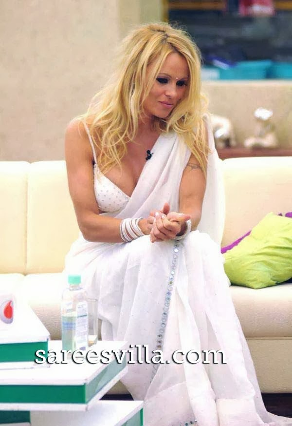 Pamela Anderson in saree