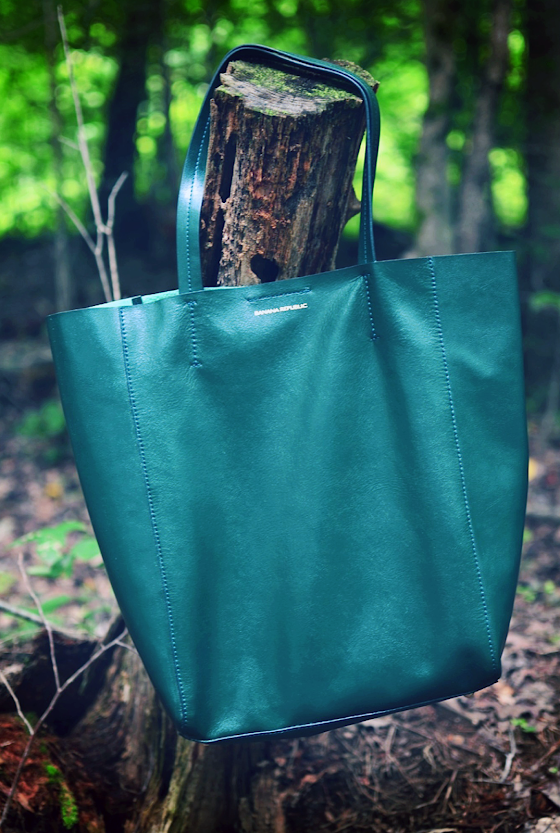 Banana Republic Ashbury Forest Green Tote