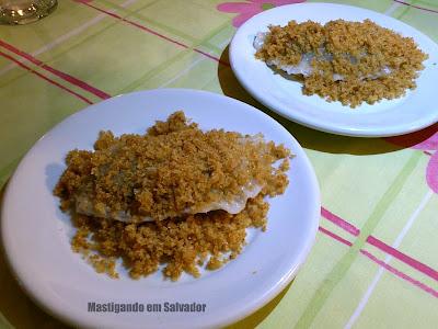 Bistrô PortoSol: A sobremesa Powidltatschkerln (Doce típico da Tchecoslováquia, recheado com Geléia de Ameixa e coberto por Farofa Doce)