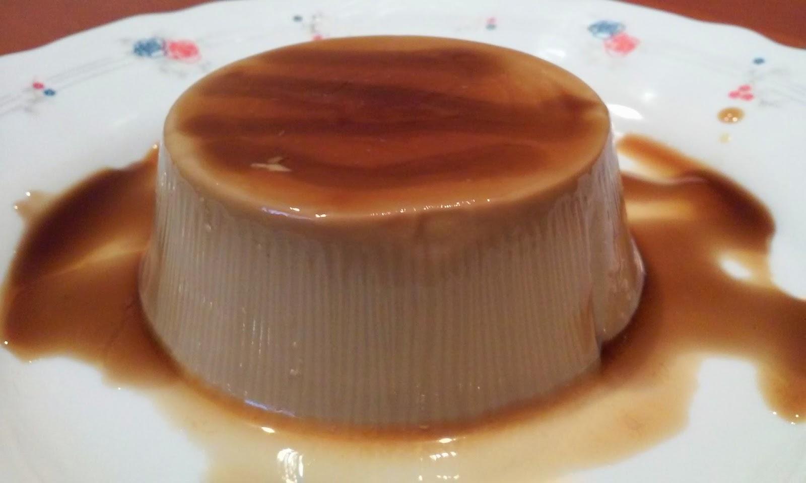 Receta flan de cafe con nata