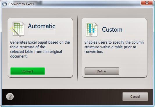 Conversione Excel (Automatica o Personalizzata)
