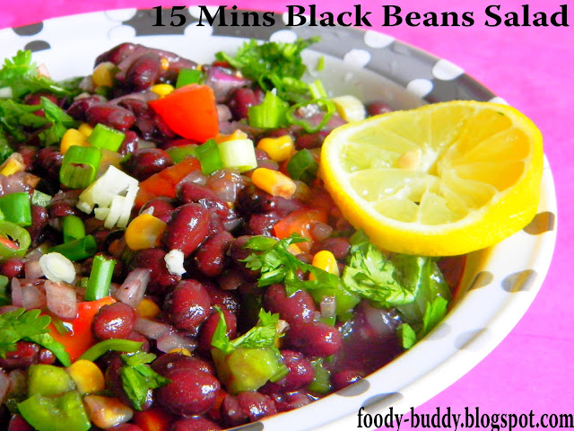 Foody - Buddy: 15 MINS BLACK BEANS SALAD- MEXICAN RECIPES