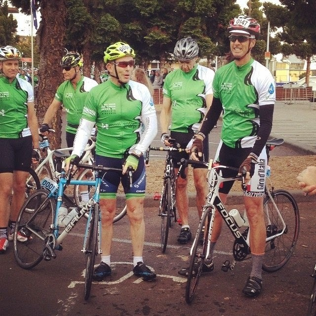Tony Abbott rides a Baum in Cadel Evans Peoples Ride