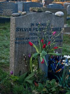 sylvia plath grave suicide