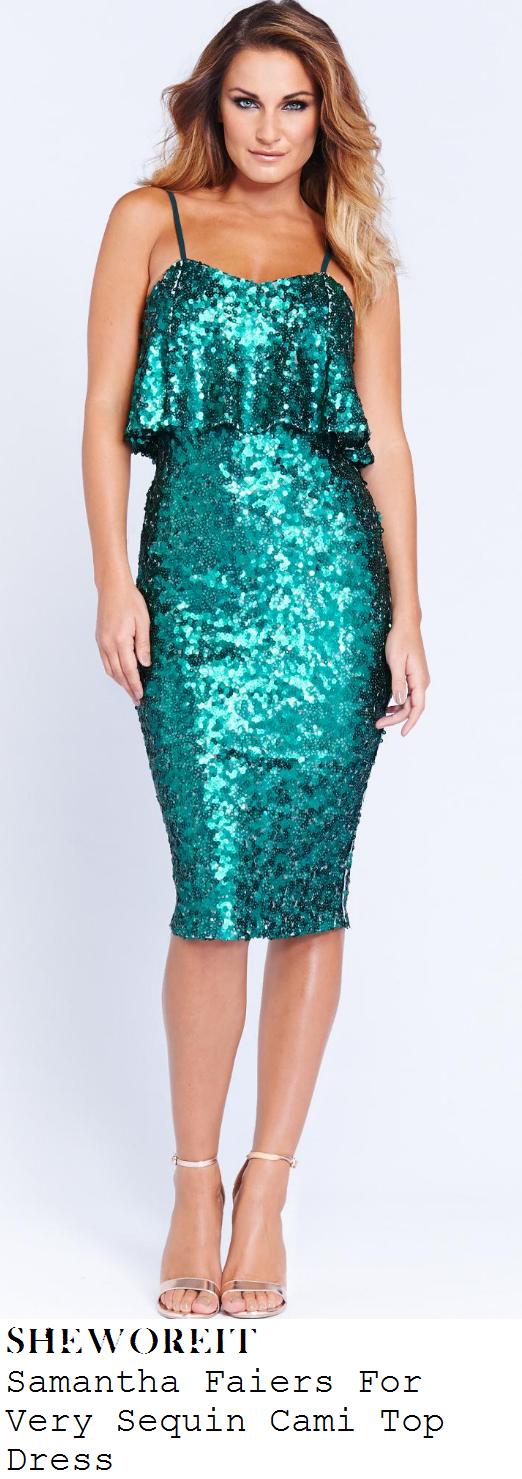 sam-faiers-green-sequin-embellished-sleeveless-frill-detail-bodycon-pencil-dress-very-launch