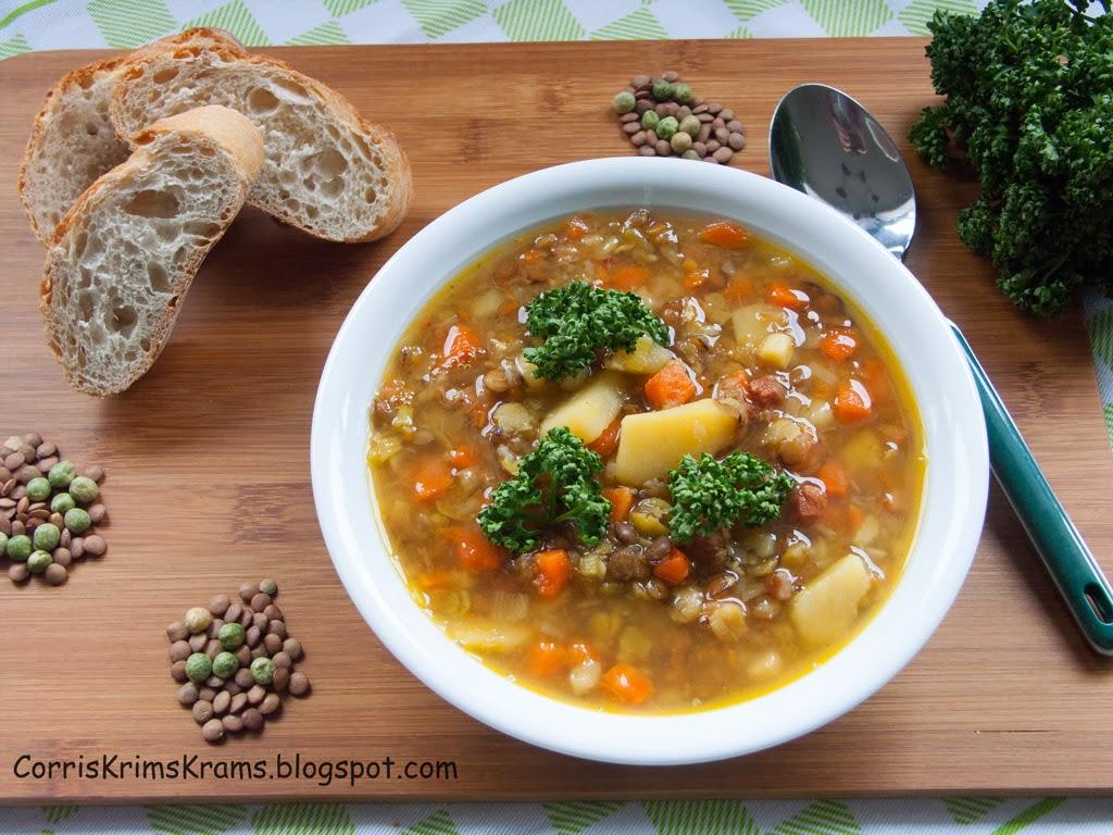Suppe, Linsen, Erbsen, Blog-Event, Rezept, Kochen