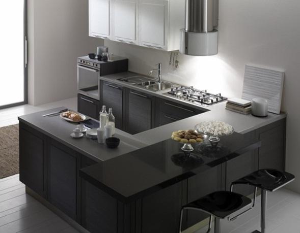 Decora y disena estupendas fotos de cocinas en color gris - Cocinas modernas de colores ...