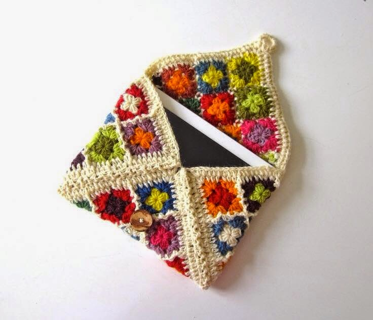 Crochet Patterns Small Projects : CARAMELO DE CROCHET: Funda para tablet