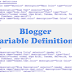 How to add custom Variable definitions to Blogger