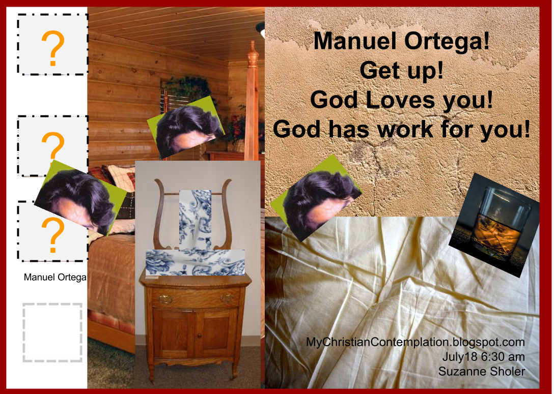 Triptych representing my dream July 17, 2014 Message for Manuel Ortega