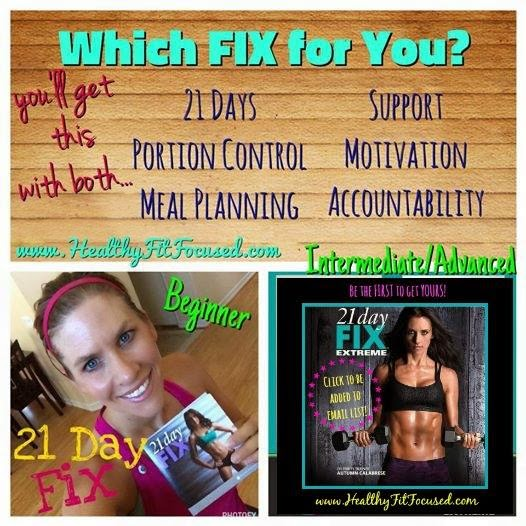 Which Fix For You?, 21 Day Fix, 21 Day Fix Extreme, www.HealthyFitFocused.com