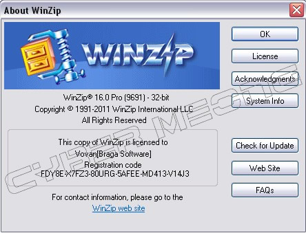 WINZIP 17 REGISTERED TO AND ACTIVATION CODE