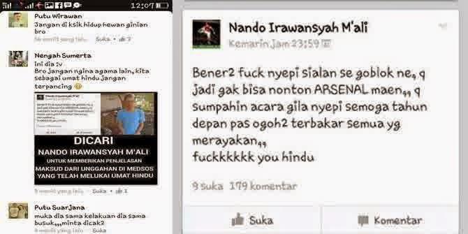 Gila! Nando Irwansyah M'ali Hina Nyepi demi Bola