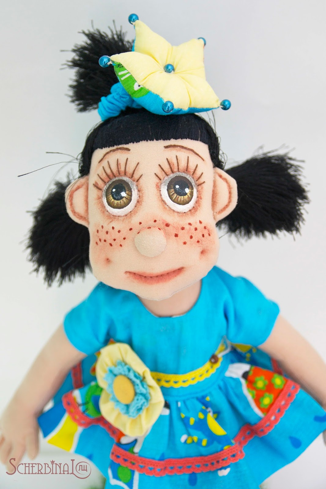 Текстильная игровая кукла-карамелька принцесса Рая. Ручная работа