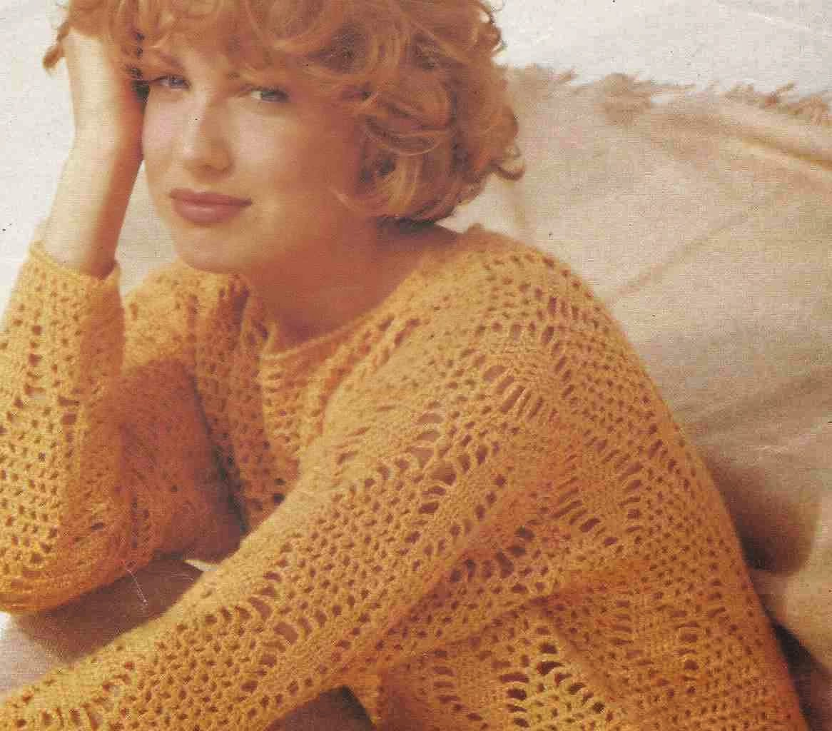 Camiseta con Rombos de Ganchillo a Crochet