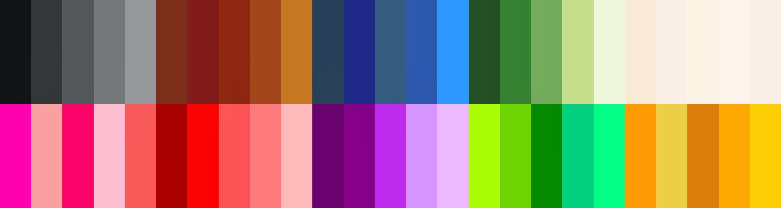 my wardrobe color palette