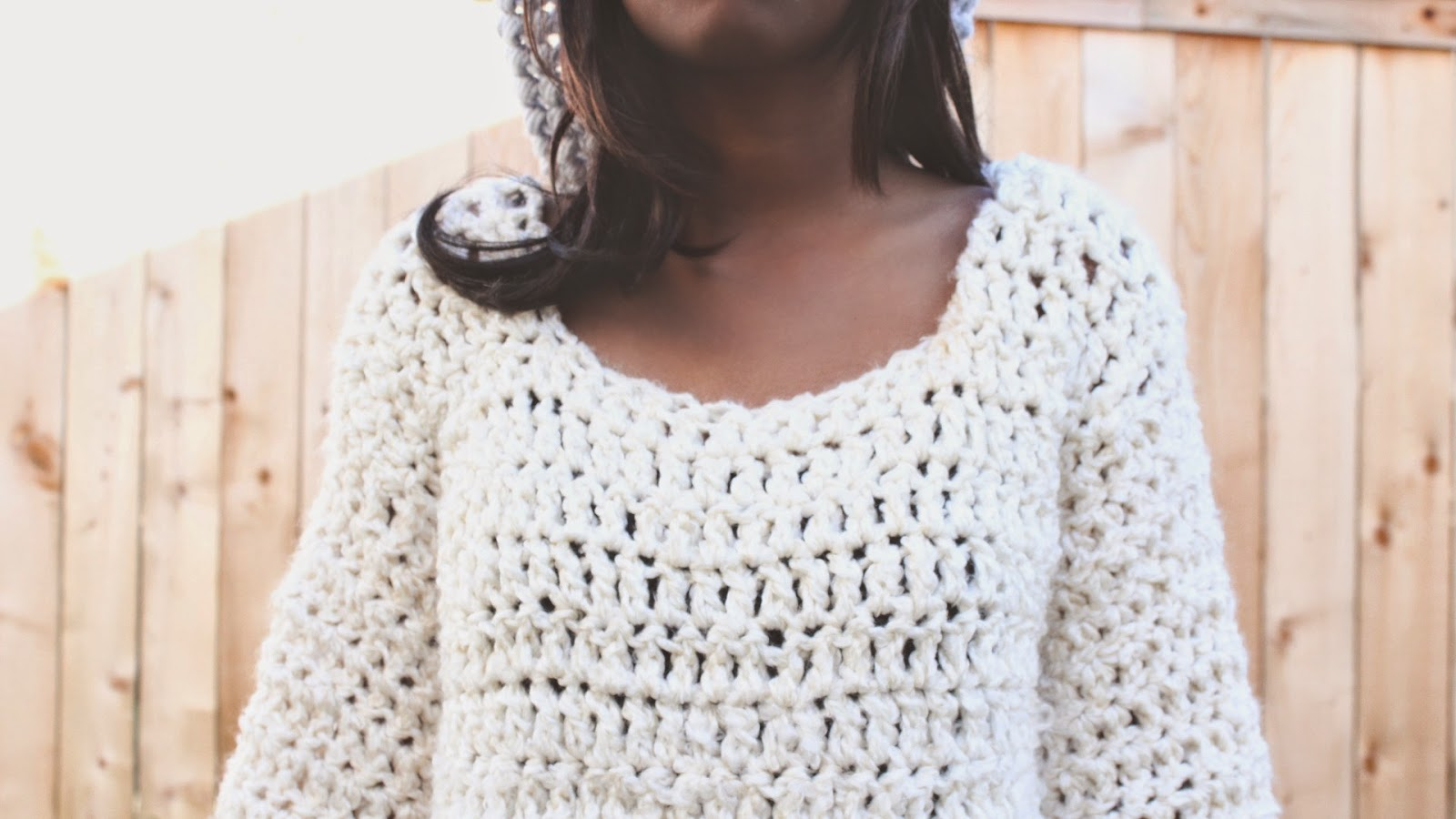 the dream crochet blog.: HandMade: The Comfy Over-Sized Crochet Sweater.