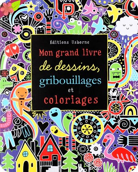 Mon grand livre de dessins, gribouillages et coloriages - éditions Usborne
